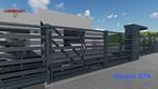 barierka tarasowa z ukośnymi panelami