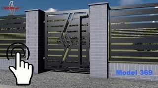 nowoczesne ogrodzenia z furtką która ma wydłużony metalowy pochwyt