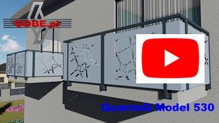 nowoczesne balustrady i brama wycinane laserowo na murkach betonowych