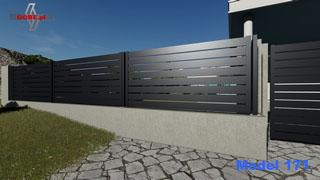 nowoczesne przęsła metalowe na podmurówce betonowej montowane na słupkach stalowych z podstawami