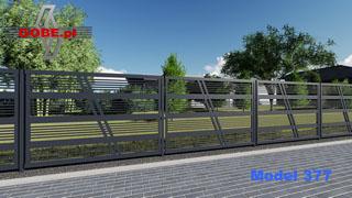 nowoczesne ogrodzenia duży prześwit przez który widać posesję