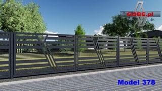 bardzo atrakcyjny model wysokiego ogrodzenia zamontowany na słupkach stalowych