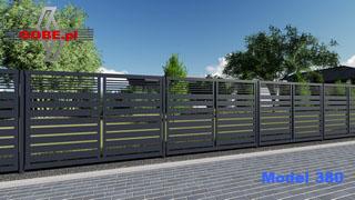 proste a zarazem nowoczesne ogrodzenie w minimalistycznym stylu w kolorze antracyt, grafit
